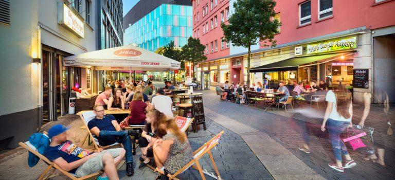 Bunte Meile mit internationalen Gastronomiekonzepten als urbaner Hotspot direkt in der Dortmunder Innenstadt